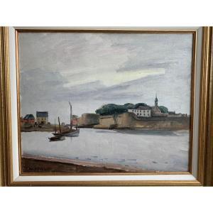 "Maurice Asselin (1882-1947) HST ""Concarneau - La ville close """
