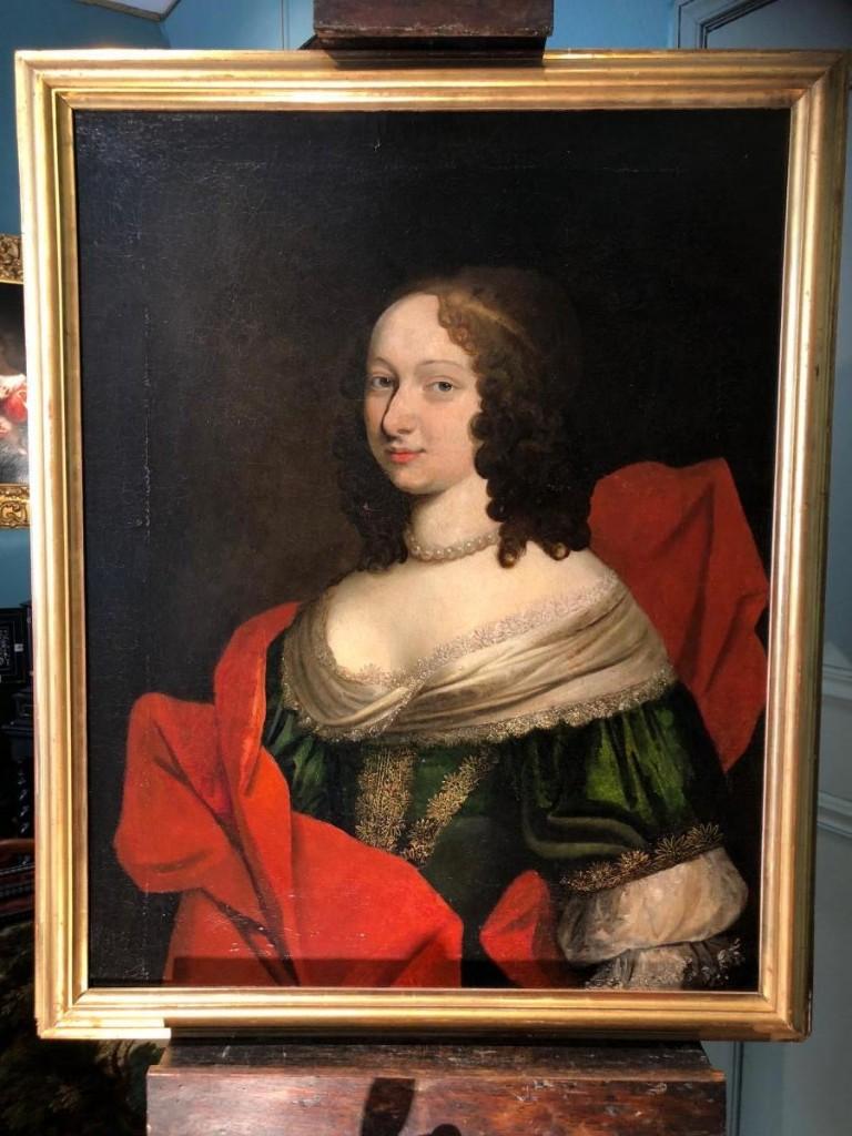 Dame de qualité en buste, Ecole Française XVIIème siècle