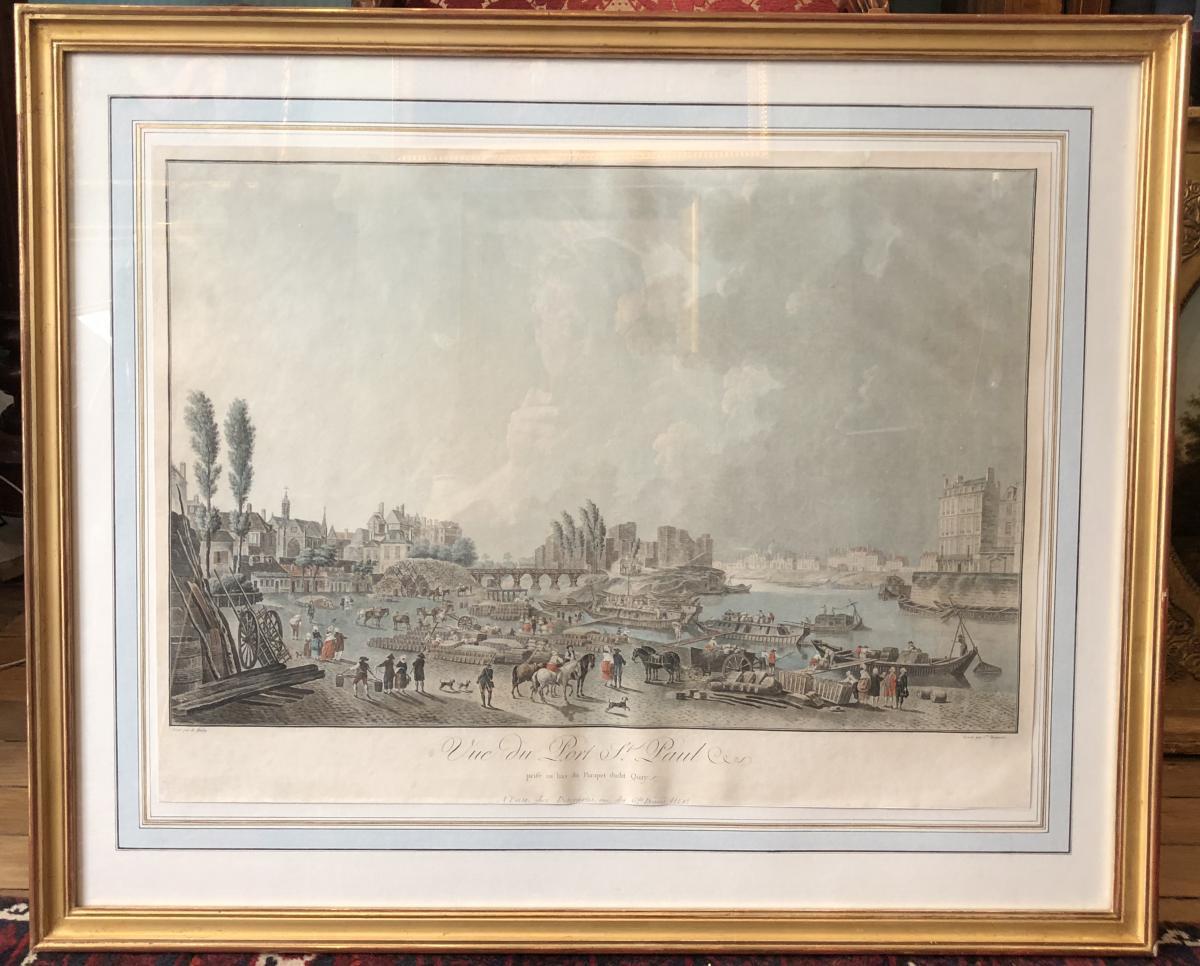 Paris quartier Saint Paul par Charles Desco XVIIIème Siècle