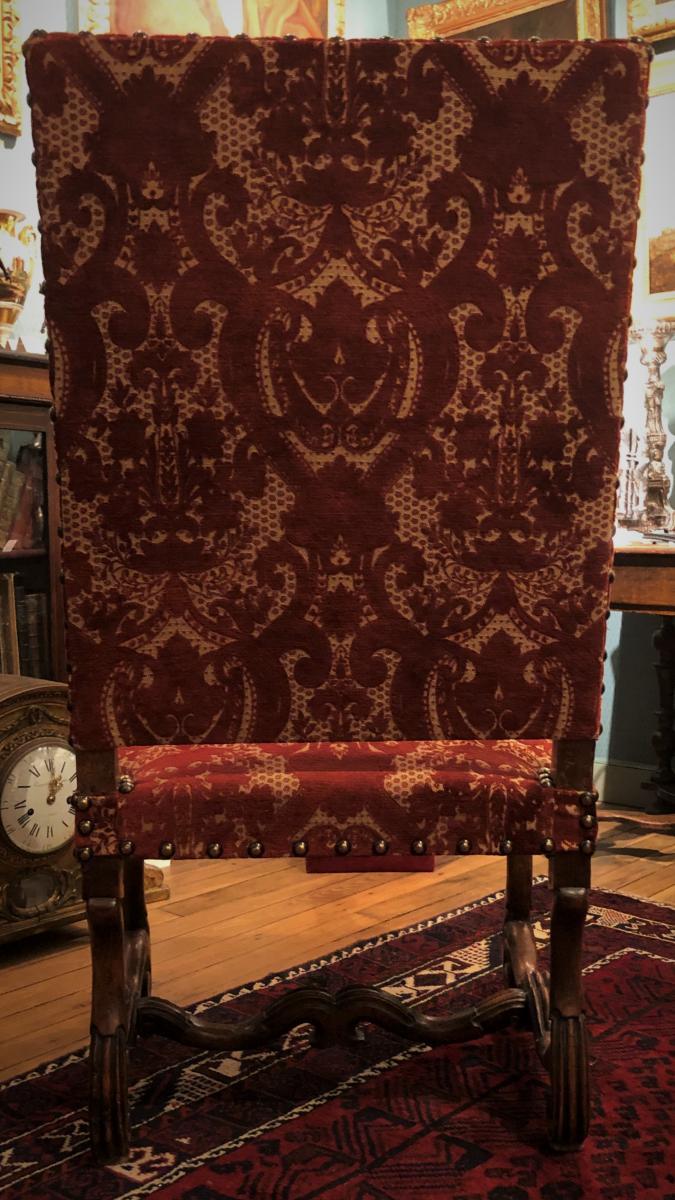 """Paire de fauteuils Louis XIV type """"os de mouton"""" XVIIème siècle-photo-1"""