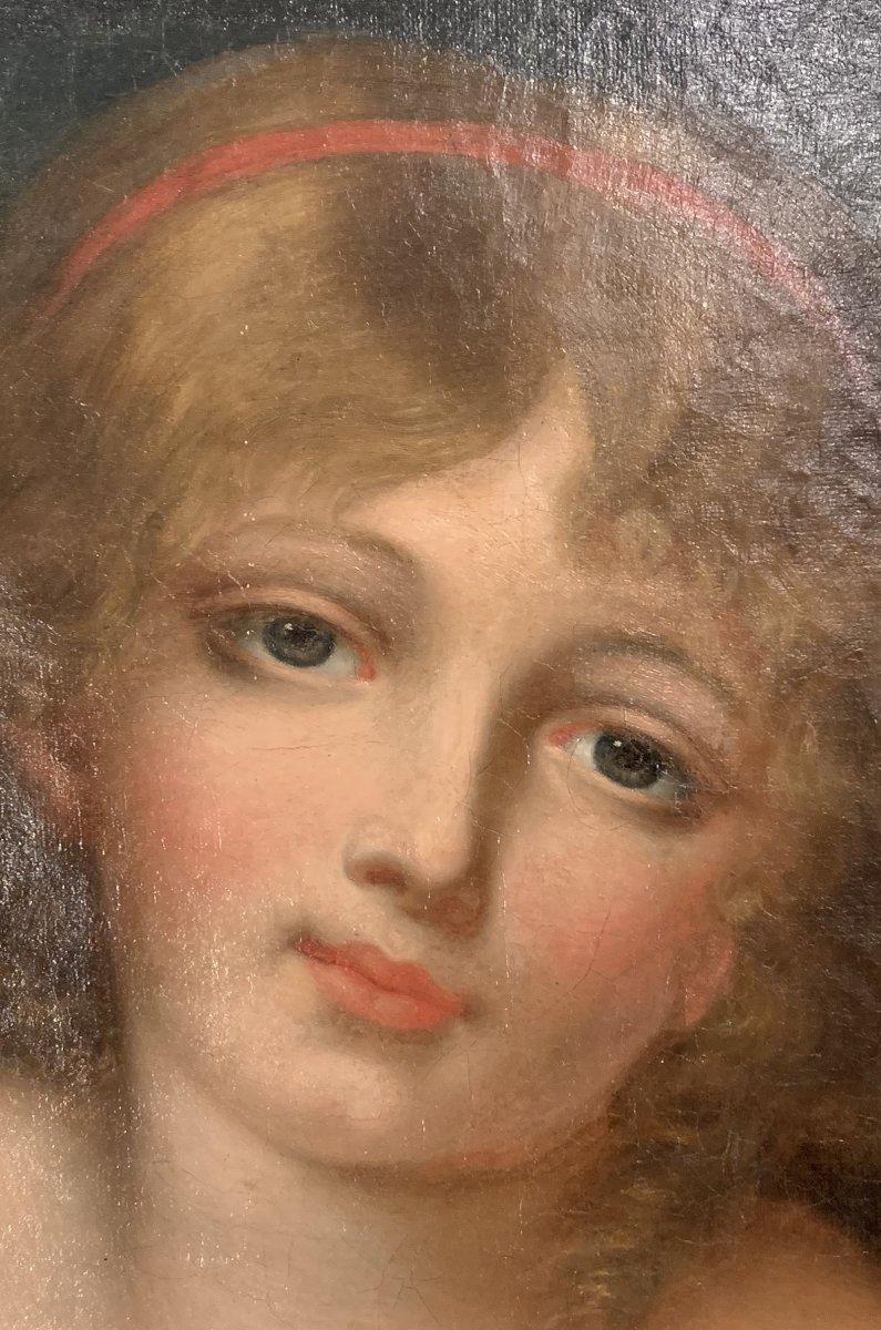 L'innocence, Ecole française, fin du XVIIIème siècle, entourage de Greuze (1725-1805)-photo-2