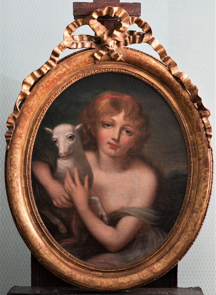 L'innocence, Ecole française, fin du XVIIIème siècle, entourage de Greuze (1725-1805)-photo-3