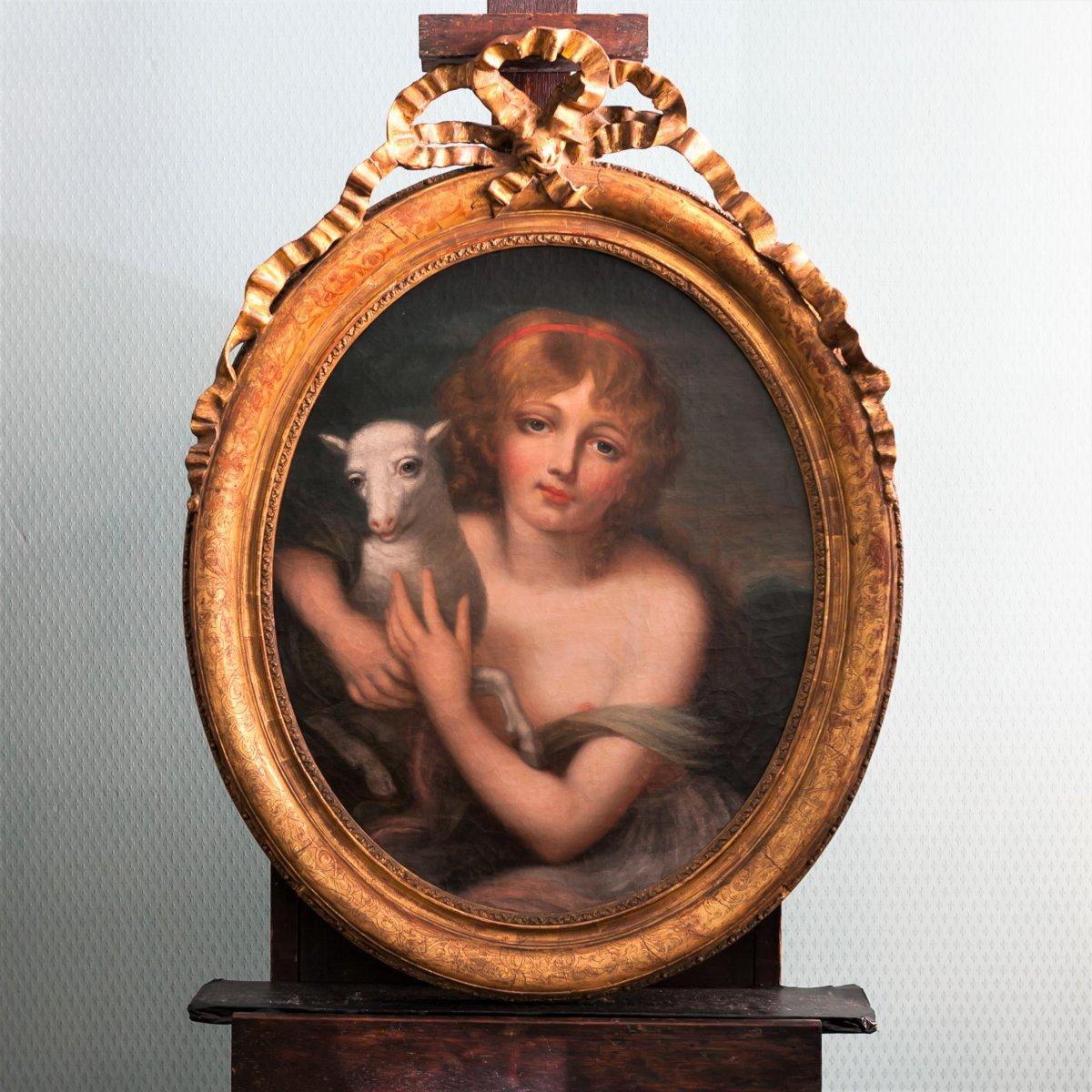 L'innocence, Ecole française, fin du XVIIIème siècle, entourage de Greuze (1725-1805)