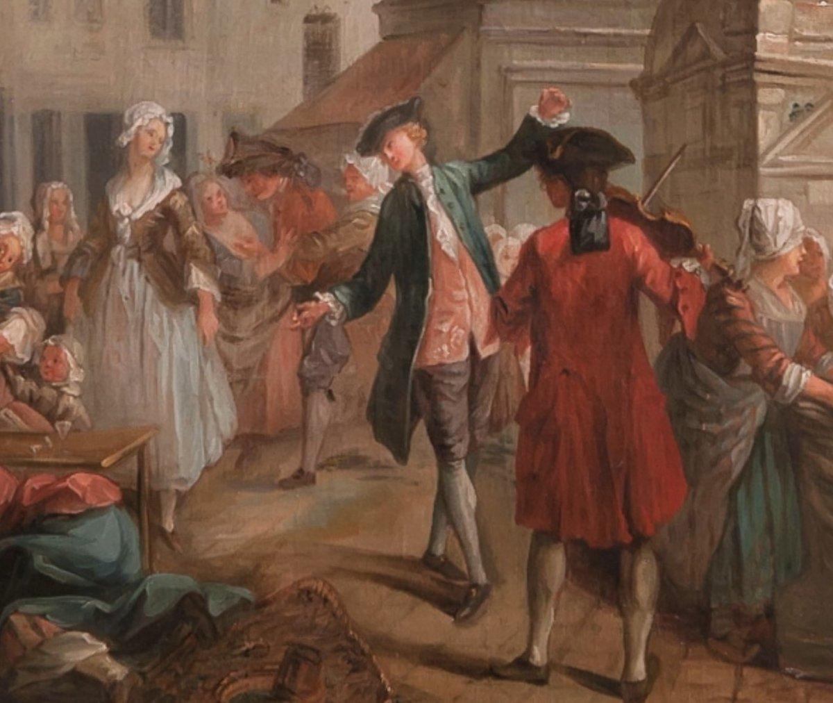 PARIS le Carreau des Halles : Les écosseuses de pois vers 1750  Étienne Jeaurat (1699-1789)-photo-3