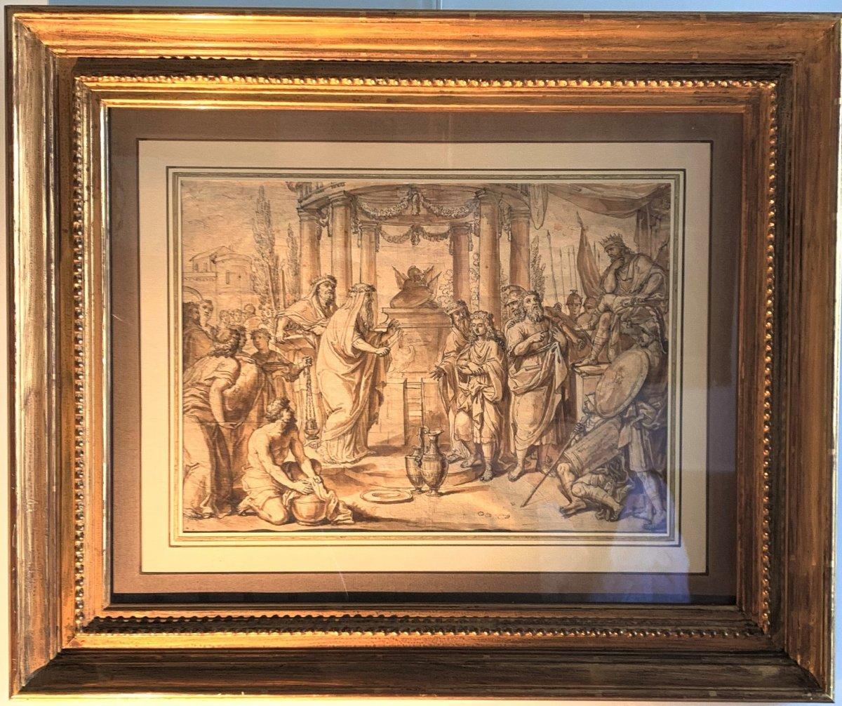 Ecole romaine du XVIIème siècle : la circoncision d'Ismaël le jour du Kippour