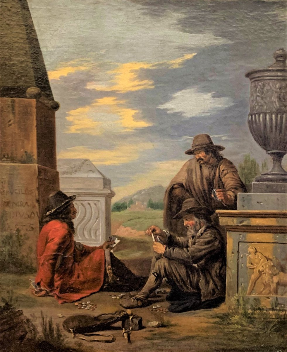 Cheaters In The Card Game - Alexandre Montallier 17th Century-photo-2