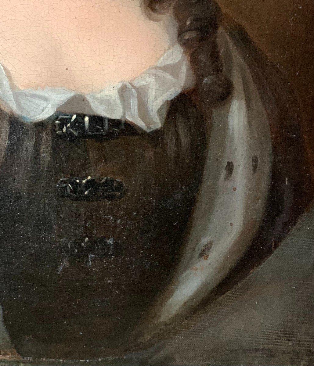 La Reine  de Grande Bretagne Anne Stuart  (1665-1714) Huile sur toile attribuée à G. KNELLER-photo-3