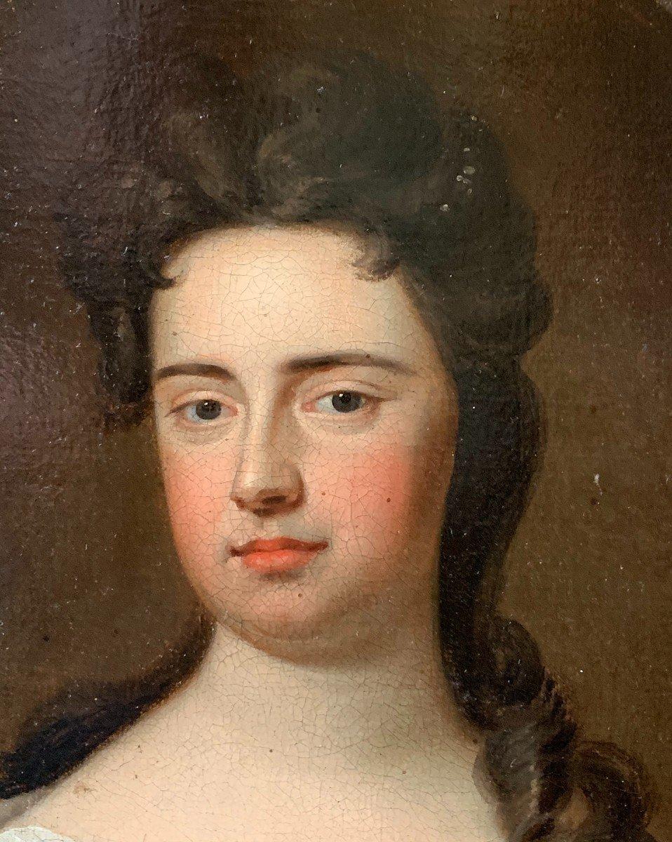 La Reine  de Grande Bretagne Anne Stuart  (1665-1714) Huile sur toile attribuée à G. KNELLER-photo-4