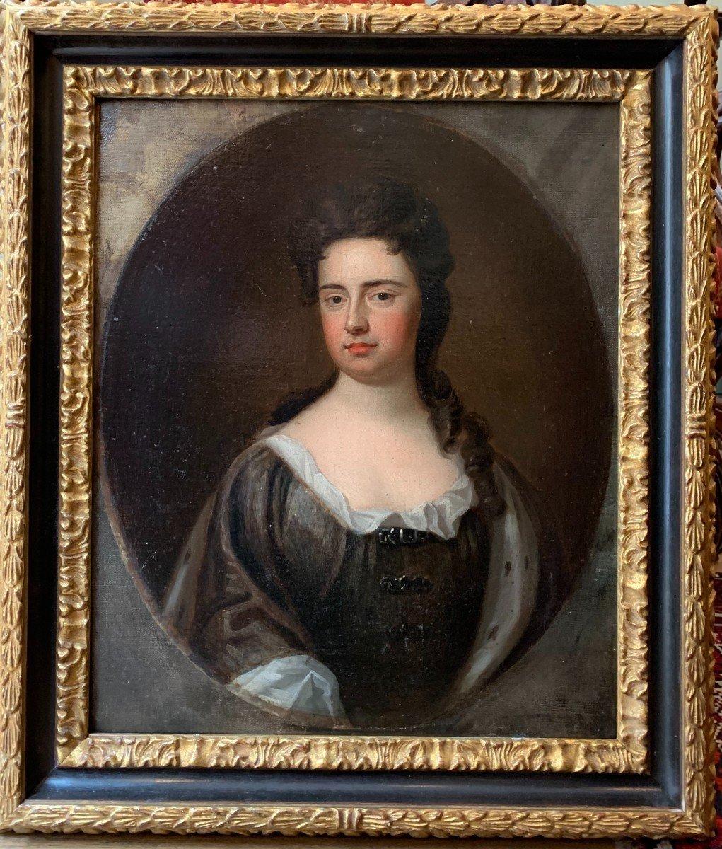 La Reine  de Grande Bretagne Anne Stuart  (1665-1714) Huile sur toile attribuée à G. KNELLER