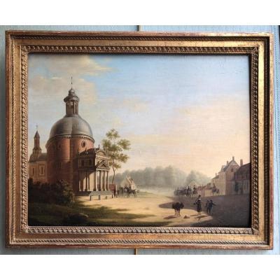 Chapelle Royale de Waterloo, Wellington quittant son quartier général en 1815