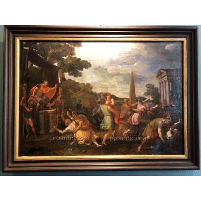 Enlèvement des Sabines -.Ecole franco-italienne milieu XVIIe siècle