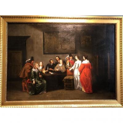 Partie de cartes - Christoffel Jacobsz van der Laemen (1606-1651)