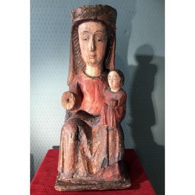 Vierge à l'Enfant Catalogne française fin 13e début 14e siècles