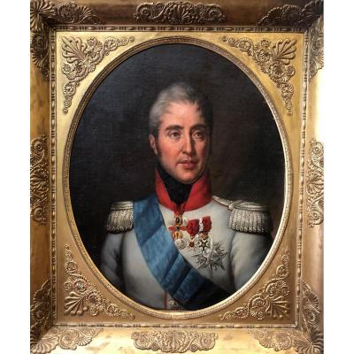 Portrait Of Charles, Future King Charles X By Jf Thuaire Around 1820