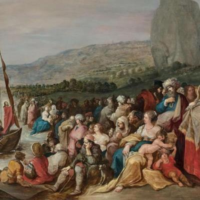 Frans Francken (1581-1642) - Christ At Lake Tiberias