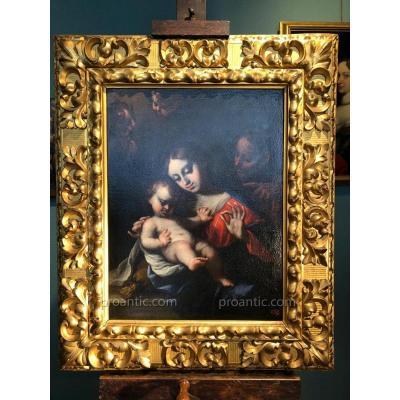 Sainte Famille signée Alonso del Arco. Ecole espagnole XVIIème siècle