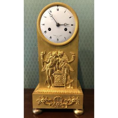 Pendule Borne Lepaute, Horloger du Roi, signée 1814