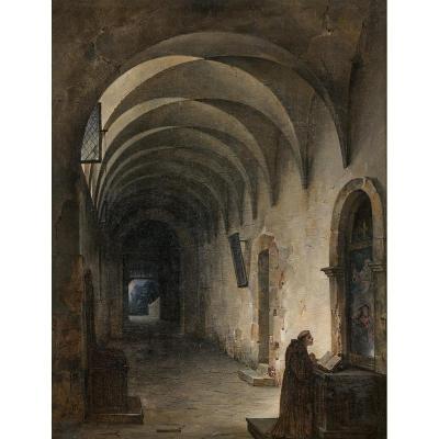 Charles-Louis LESAINT (1795-1843) Moine priant