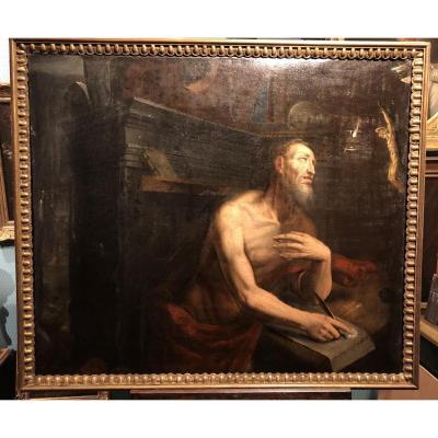 Saint Jérôme - Ecole Caravagesque Vers 1600, Italie