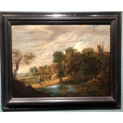 Paysage Ecole Flamande XVIIe siècle, entourage de David TENIERS