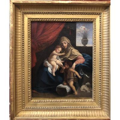Vierge à l'Enfant et Saint Jean Baptiste suiveur Guido RENI