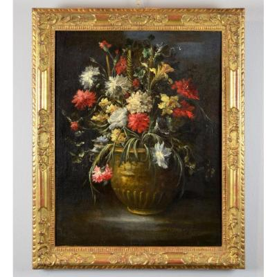 Still Life With Flowers - Signed Margherita Caffi (1648 - 1710)