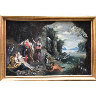 Flemish School XVII: Combat Between Athena And Poseîdon For Attica