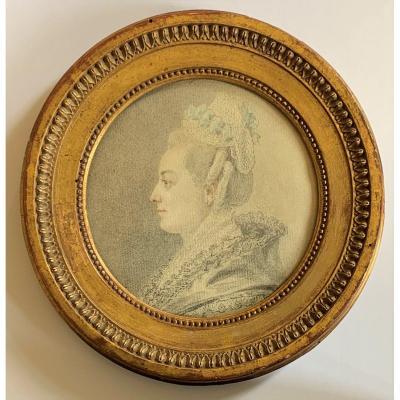 Dessin de Marie de La Grange par Augustin de Saint Aubin (Paris 1736-1807)