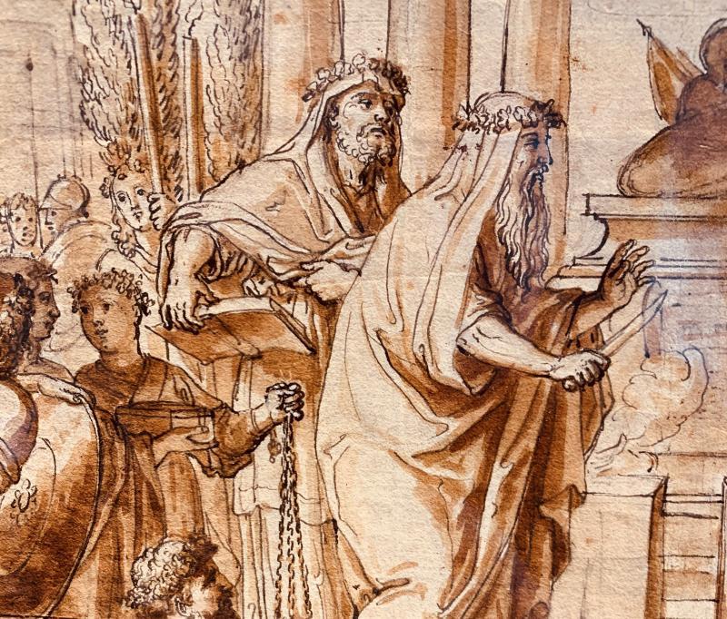Ecole romaine du XVIIème siècle : la circoncision d'Ismaël le jour du Kippour-photo-4