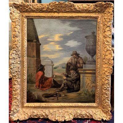 Les tricheurs dans la partie de cartes - Alexandre Montallier 17ème siècle