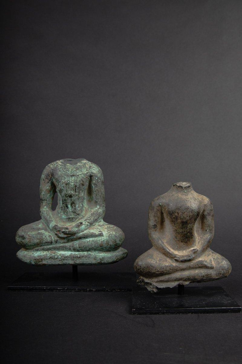 Deux Bouddha En Bronze