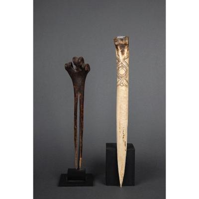 Deux dagues en os - Papouasie-Nouvelle-Guinée