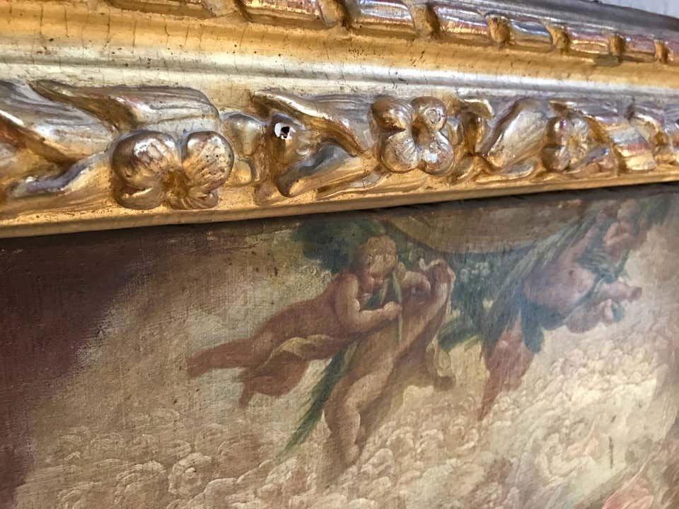 Neapolitan Painting  School XVII Allegory To The Liver-photo-1
