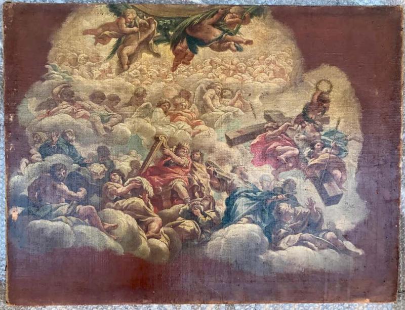 Neapolitan Painting  School XVII Allegory To The Liver-photo-2