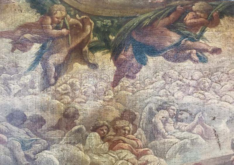 Neapolitan Painting  School XVII Allegory To The Liver-photo-3