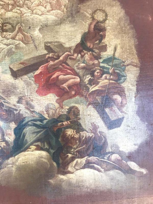 Neapolitan Painting  School XVII Allegory To The Liver-photo-4