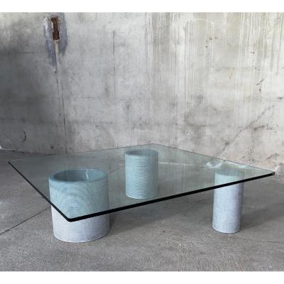 Massimo Vignelli Pour Casigliani, Table Basse Cylindre