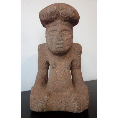 Sculpture  Maya - Homme Champignon-  Site de Kaminaljuyu au Guatemala, 300-600 après J.c
