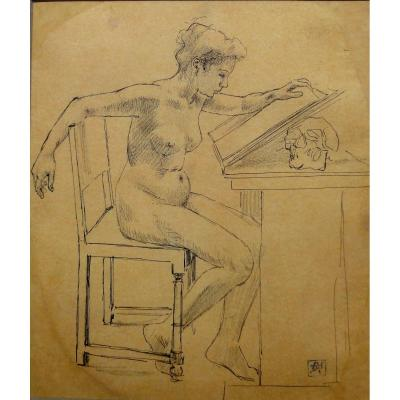Armand Rassenfosse, Ex-libris Project, Drawing From 1907