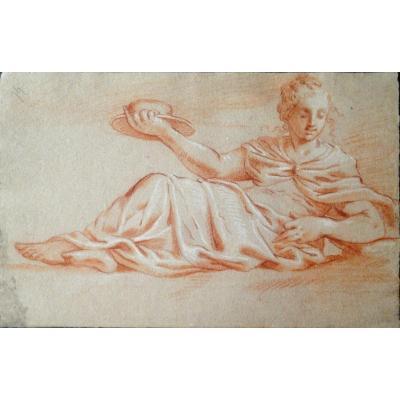 Aphrodite, Sanguine. Italian School Of The XVIII Eme Century