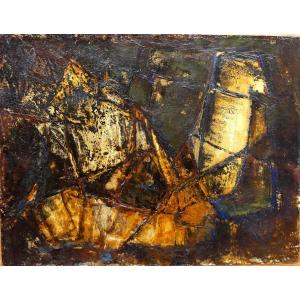 Abstract Composition Around 1960, Painting On Paper.