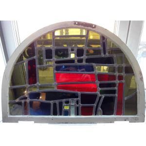 Modernist Stained Glass Years 30-40, Provenance Villa De Saint Omer.