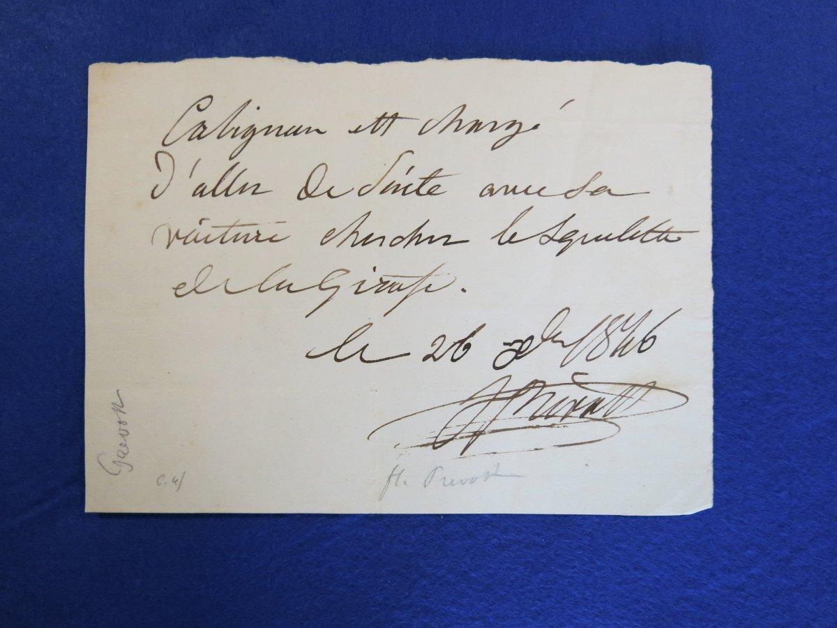 Billet Autographe Signée De Florent Prevost