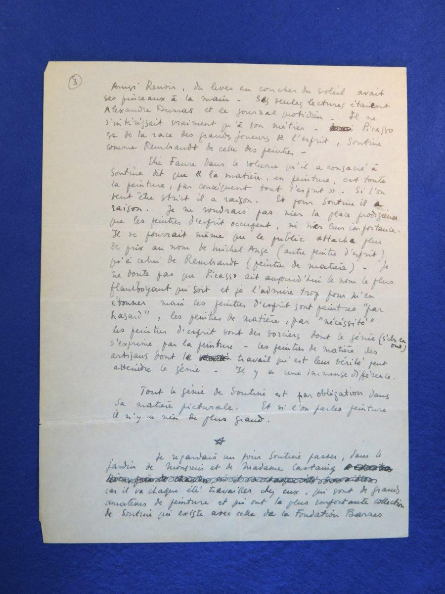 Manuscrit Autographe Signée De Maurice Sachs sur Chaïm Soutine-photo-4