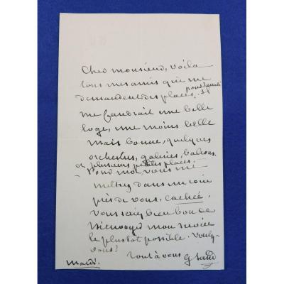 Autograph Letter Signed By George Sand