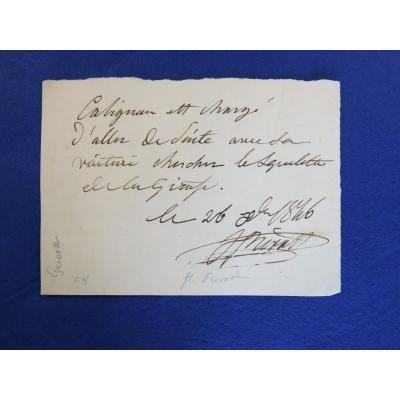 Autograph Note Signed By Florent Prevost