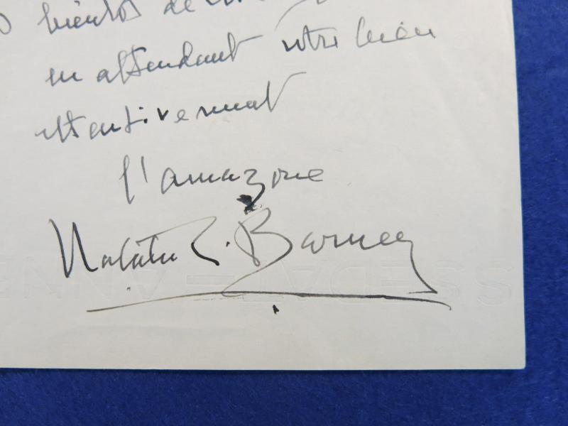 Lettre Autographe Signée De Natalie Clifford Barney-photo-2