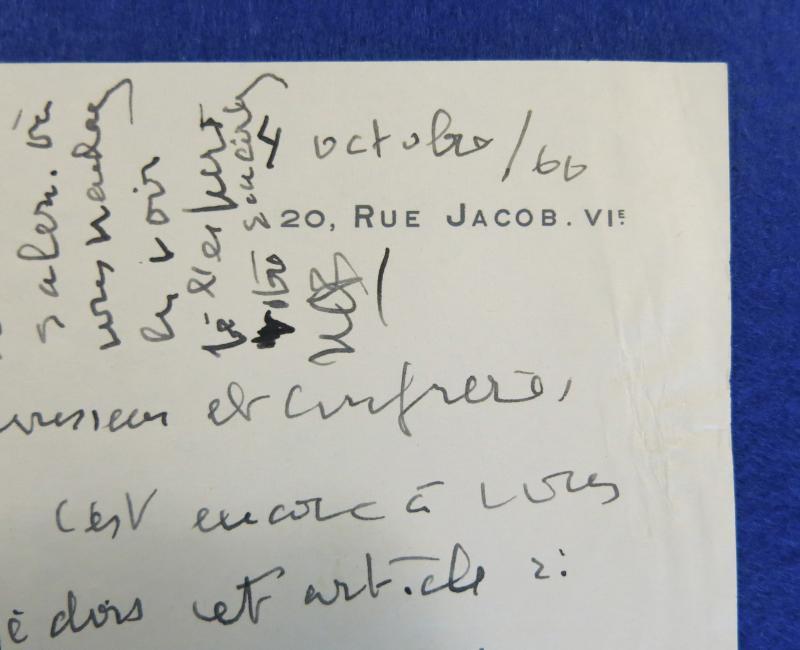 Lettre Autographe Signée De Natalie Clifford Barney-photo-3