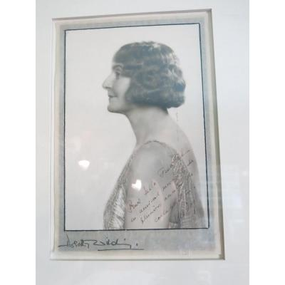 Photography Dedicated And Signed By Marie Bonaparte Princess Of Greece