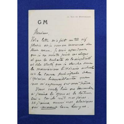 Autograph Letter Signed By Guy De Maupassant